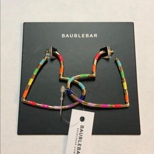 Baublebar Annabelle Heart Hoop Earrings — Rainbow